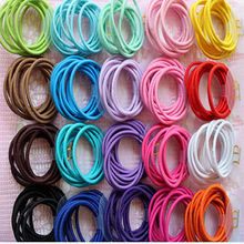 5PCS Candy Color Hair Ropes Headwear Baby Girl Kids Headbands Trendy Elastic Hair Bands For Women Hair Accessories