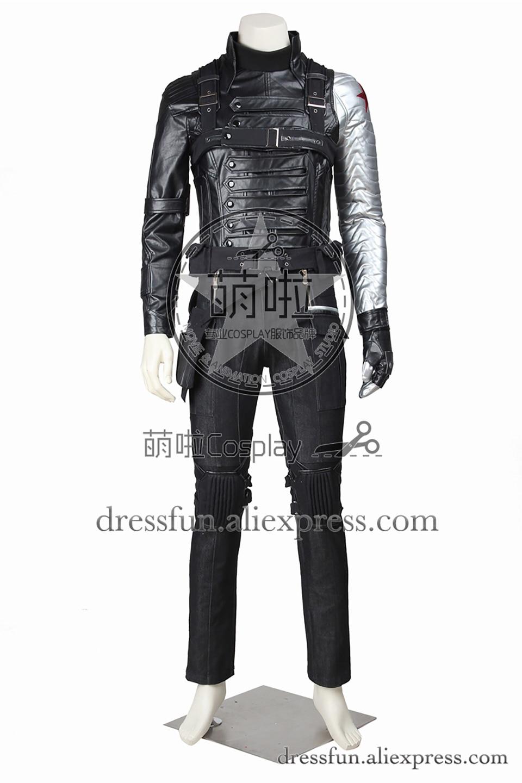 Captain America Winter Soldier Bucky Cosplay Costumes Full Set Armor Halloween