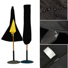 Patio Outdoor Yard Garden Umbrella Parasol Cover Zipper Patio Umbrella Storage Bag Umbrella Organizer Holder for Patio Umbrella