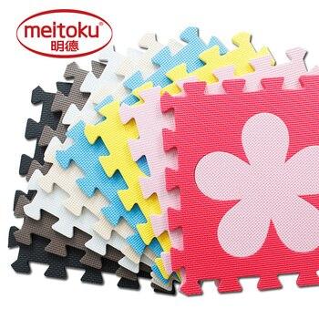 Meitoku bebé eva foam puzzle juego mat/10 unids/lote enclavamiento ejercicio alfombra, por 30 cm x 30 cm 1 6cmthick
