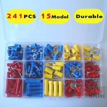 2015 Limited wire Ferrule Crimp Terminal Espadas Awg 241pcs/lot 15model Crimp Connector Assorted Kit Ferrule(China)