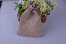 10pcs Faux Linen Burlap Bags / Sacks with Drawstring - Gift packing Bags 12.3CM*18CM (4.8inch'*7inch)(China)
