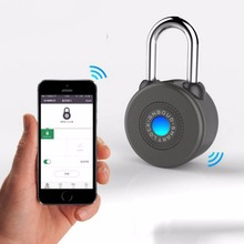 Anti Theft Alarm Lock 1 Pc Bluetooth Smart Lock for Cycling Motorycle Door with APP Control(China)