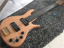 Custom shop; popular 5 strings F bass;Best China factory bass guitar;AAA flame top;Free shipping(China)