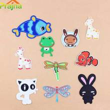 Prajna Animal Fish Cat Rabbit Embroidered Patches Cartoon Iron On Patches For Clothing Logos Vest Pokemon Cheap Bordad Kids A1