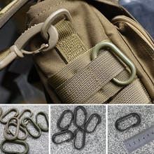 10PCS U Shape Mountaineering Buckle Snap Clip Plastic Steel Climbing Carabiner Hanging Keychain Hook Outdoor Tool(China)