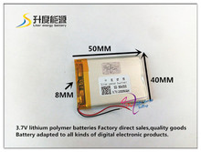 best battery brand 1pcs 3.7V,2000mAH 804050 polymer lithium ion / Li-ion battery for model aircraft,GPS,mp3,mp4,cell phone,speak(China)
