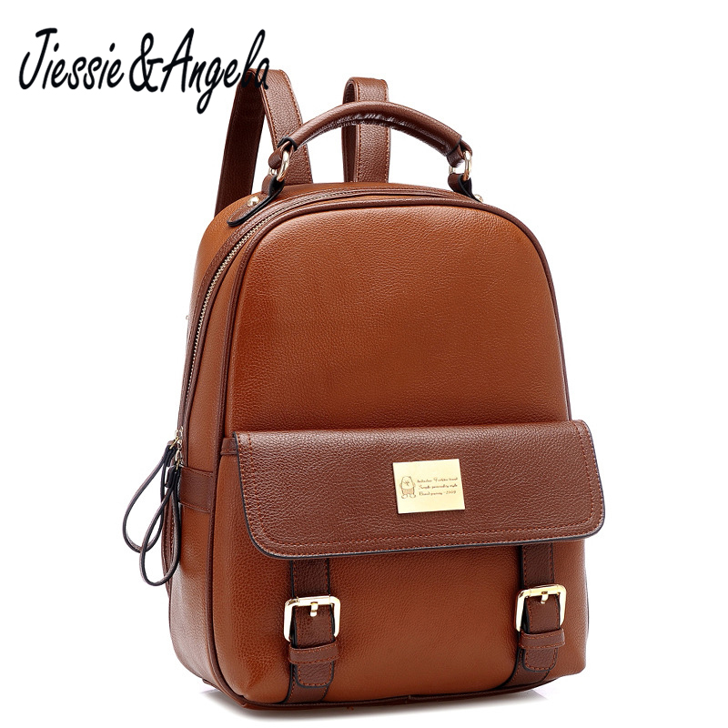 Jiessie &amp; Angela Vintage Girls Mochila Brand Designer Backpack Fashion Women Korean Style Rucksacks School Backpack Travel <br>