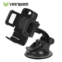 Yianerm One Touch Dashboard Sucker Car Phone Holder With Fixed Base Suction Cup Mount For iPhone X 7 6s/Plus Samsung S6 S7/Edge(China)