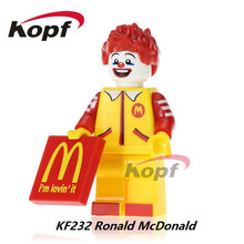 Single Sale Ronald McDonald Mr. Kentucky The Shocker Michael Myers Spiderman Super Heroes Building Blocks Kids Gift Toys KF232