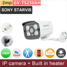 SONY STARVIS#Built in heater# 2mp 1080P full HD IP camera outdoor mini bullet starlight night vision CCTV P2P GANVIS GV-TS230AH