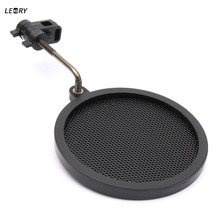 LEORY Mic Microphone Studio Wind Screen Pop Filter / Mask Shield Microphone For Speaking Recording Koraoke Singing