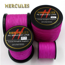 Hercules Fishing 8 Strands Braided Fishing Line 100M 300M 500M 1000M 1500M 2000M Pink Carp Fishing Line Sea Saltwater Fish Cord(China)