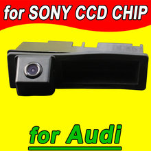 CCD car rear view reverse parking camera for Audi A3 A4 A6L Q7 back up night vision HD waterproof handle trunk place(China)