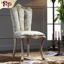 2016 hot sale carved wood chair - Antique fashion cowhide dining chairs with armrest Europe fashion
