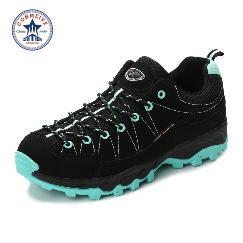 new arrival hiking shoes outdoor zapatillas trekking hombre sneakers mens sapatilhas tourism leather rubber lace-up medium(b,m)<br>