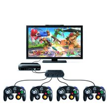 4 Ports Replacement Gamecube Game Controller Adapter Converter for NINTENDO Wii U WIIU PC USB Supports GC Adapter W/ retail box