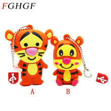 FGHGF Lovely mini Tiger USB 2.0 Flash Drive Pen drive Memory stick Winnie Bear Animal cartoon 4GB/8GB/16GB/32GB U disk