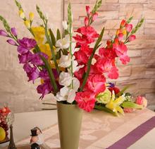 29.5'' Artificial Plants&Flowers Silk Gladiolus Gladioli Stem Fake Sword Lily Party Centerpieces Artificial Decorative Flowers(China)