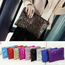 Retro Luxury Sequins Hand Bag Taking Late Package Clutch Bag Sparkling Dazzling Sequins Clutch Bags Purse Handbag Evenin