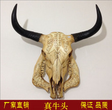 head Arts Crafts Yak skull handicraft, genuine ox head ornament, cattle and sheep skull specimen, characteristic handicraft, ox(China)