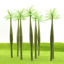 20pcs Layout Model Train Palm Trees Scale O 13.6cm Plastic model trees TDD110 railway modeling model building kits(China)