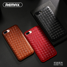 Remax Phone Case For Apple iPhone 7 7Plus PU Leather TPU Silicone Case Protective Cover Retro Weave Designed Smooth Touch Sleeve