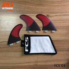 FREE SHIPPING brand best price high quality half carbon FCS G5 M surfing surfboard fins with bag
