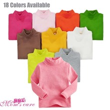 Mom's care Childrens Undershirt 100% Cotton Turtleneck Underwear Boys Girls Bottoming Shirt Kids T Shirts Baby Clothes Spring