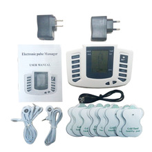 Therapy Massager 16pads Electrical Stimulator Full Body Relax Muscle Therapy Massager LCD Screen Pulse Tens Acupuncture Machine(China)