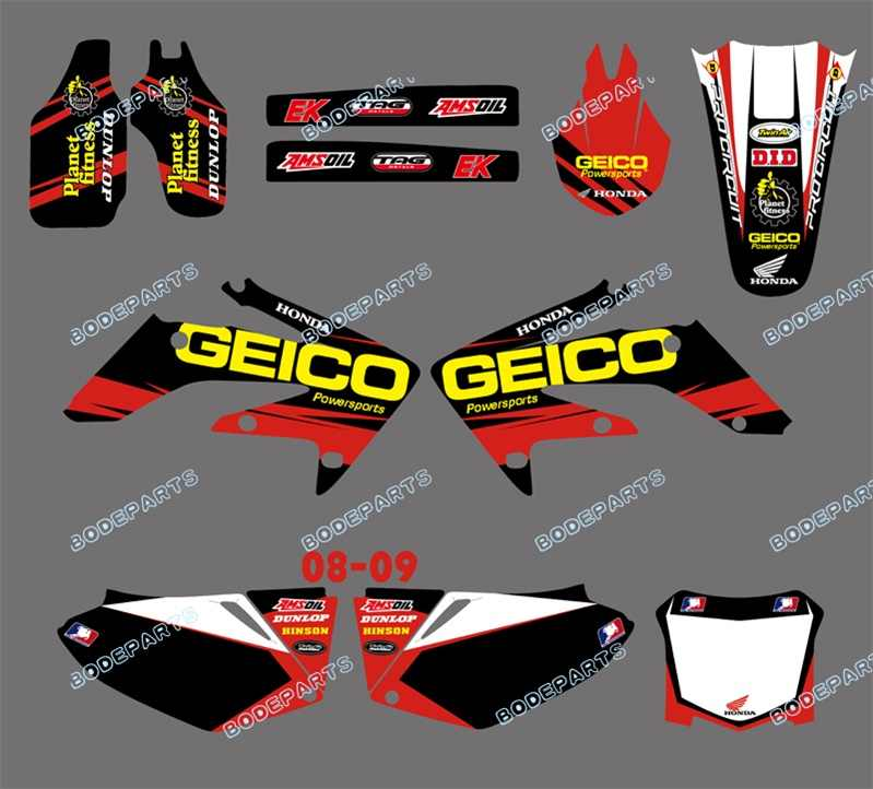 Fits HONDA CRF450R 05-08 CRF450X Attack Graphics Gripper Seat Cover Black