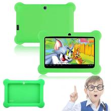 "Silicone Cute Soft Gel Case Cover For 7"" Android A23 Q88 Tablet PC Kids Green(China)"