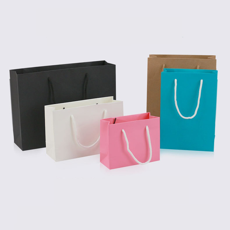 Paper bags with handle [ 100 Piece Lot ] 7