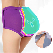 Buy Sexy Seamless Healthy Cotton Pants Menstrual Period Underwear Women bamboo fiber Panties Ladies Physiological Leakproof Briefs