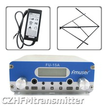 FMUSER FU-15A V1.0 FM stereo PLL broadcast transmitter+circularly polarized antenna+power adapter 87.5-108MHZ(China)