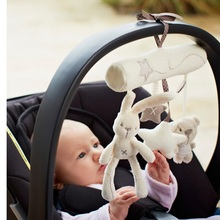1set Cute Bunny and Bears Suspension Plush Toys Baby Carriage Crib Shaker Decoration Play Toys Kids Favorite Rattles Gift