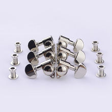 1Set 3R-3L Genuine Grover Guitar Machine Heads Tuners 1:18 Nickel ( without original packaging )(China)