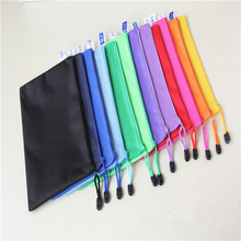 200pcs A5 File Folder Nylon Oxford Multifunctional File Pocket Can be Customized Logo(China)