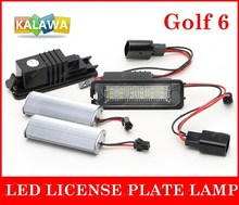 One pair Car Led License Plate Light Lamp with resistor totally no error case for Volkswagen GOLF 5 6 Canbus Type 030601 GGG(China)
