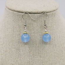 6-14mm Accessory Crafts Parts Blue Aventurine Earrings Round Beads Drop Earrings Jewelry Party Wedding Gifts 15inch Lucky Stone