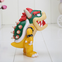 12cm Super Mario Koopa bowser pvc doll with red hat Figure Toy 5 inch Baby figures