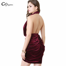 New Autumn Elegant Dress women 2016 Velvet Sleeveless Night Club Wear Clothing Sexy Bodycon dress Female Party pencil dresses