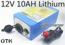 12V 10Ah ternary lithium battery pack for 12V Car Washer Car household high pressure washing machine fishing lamp hernia lamp(China)