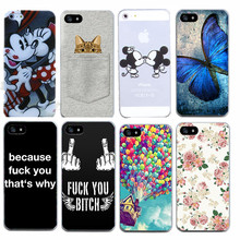 Butterfly Finger Pattern Case For iphone 5 5S SE 6 6S 7 7 plus Thin Soft TPU Protective Cell Phone Cases Cover