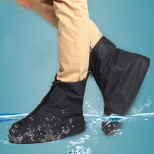 Wholesale Women and Men Reusable Rain Snow Shoe Covers Unisex Waterproof shoes Black Overshoes Boot Gear(China)