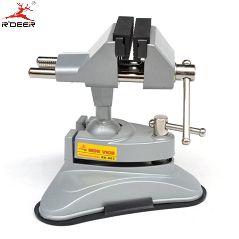 RDEER Bench Vise Universal Vacuum Suction Table Vise 360 Universal Adjustable Aluminium Alloy Bench Screw For Repair Tools<br>