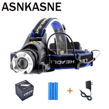 ASNKASNE Promotion Quality Headlight 5000 Lumens Cree XML T6 LED Headlamp Rechargeable Fishing Camp Head Light For 2*18650(China)