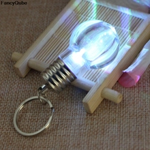 1pc LED Flashlight Light Bulb Key Ring Keychain Lamp Torch bag key chains Crystal Keyring Car Key Chain Women Key Holder