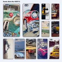Retro summer volkswagen bus beach art design hard transparent Cover Case for huawei P10 Plus P8 P9 Lite Mate 9 S 8 7 phone case