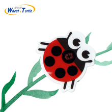 4PCS/Lot Baby Forehead Lcd Digital Thermometer Sticker Ladybug Cartoon Children Kids Health Care Medical Body Fever Thermometer